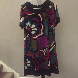 Black Dress with Floral Design